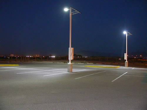 solar powered led flood lights for parking
