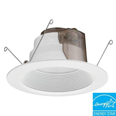 Lithonia Lighting 6 In Recessed White Baffle Led Downlight