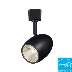 Hampton bay 1 light 256 in black led dimmable track lighting head hampton bay 1 light 256 in black led dimmable track lighting head aloadofball Choice Image