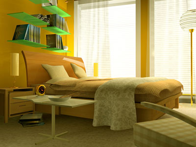 The soft led light source priciple for bedroom