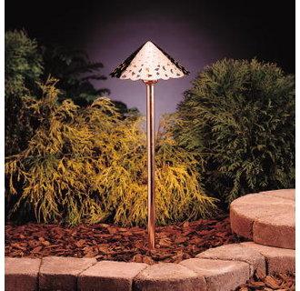 Kichler 15843 Design Pro LED Decorative Hammered Roof Low Voltage Path & Spread Light