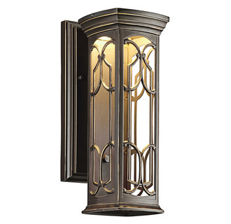 Kichler 49226LED Tuscan Single Light Small LED Outdoor Wall Sconce from the Franceasi Collection