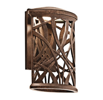 Kichler 49249LED Modern Single Light LED Medium Outdoor Wall Sconce from the Maya Palm Collection