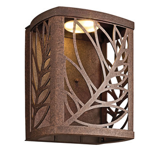 tropical outdoor lighting. kichler 49251 tropical safari single light led medium outdoor wall sconce from the takil collection lighting