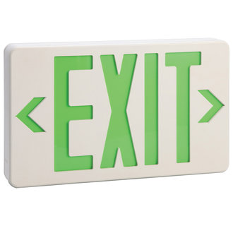 Design House 512962 Emergency Exit Sign with Green Light, 11-7/8