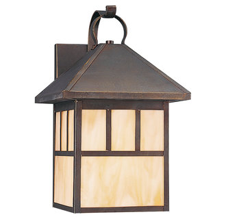 Sea Gull Lighting 80513S Craftsman / Mission Single Light Medium Outdoor LED Wall Sconce from the Prairie Statement Collection