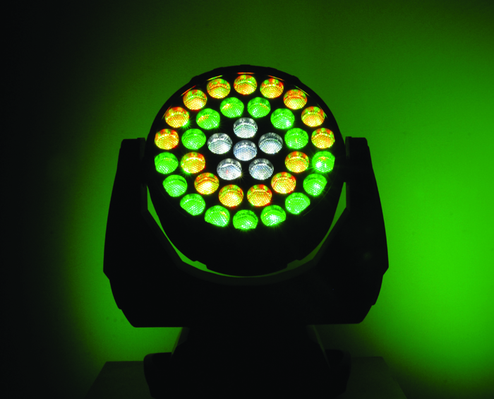 Q-Wash™ 436Z-LED Quad-colored RGBW LEDs with brilliant