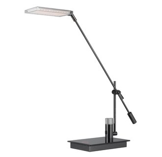 Cal Lighting BO-2233DK 1 Light Swing Arm LED Desk Lamp with Dimmer Switch and 280 Lumen Output