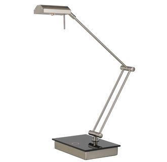Cal Lighting BO-2323DK 1 Light Swing Arm LED Desk Lamp with Dimmer Switch and 320 Lumen Output