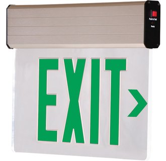 Dual-Lite CVER1GNE Green Recessed Ceiling Mount Emergency Exit Sign