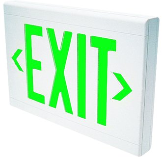 Dual-Lite LXUGWEI LED Green Spectron Self-Testing Emergency Exit Sign - Battery Included