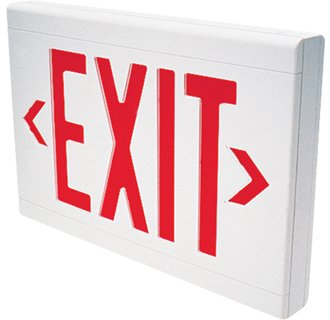 Dual-Lite LXURWE LED Red Emergency Exit Sign - Battery Included