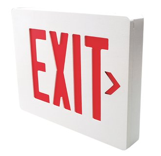 Dual-Lite SESRWE Red LED Wall / Ceiling Mount Emergency Exit Sign - Battery Included