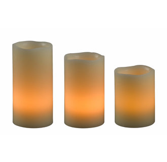 Kenroy Home 32169 Remote LED Candle Set in Cream Finish