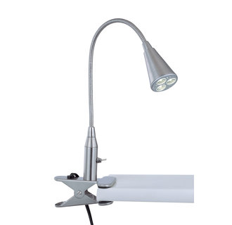 Lite Source LS-21565 Contemporary / Modern Single Light Down Lighting LED Clamp-On Desk Lamp from the Maxx I Collection