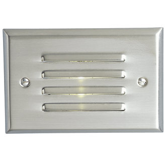 Progress Lighting P6827 Everlume 5W Energy Efficient Three-LED Louvered Step Light with Integral Transformer in Horizontal Configuration