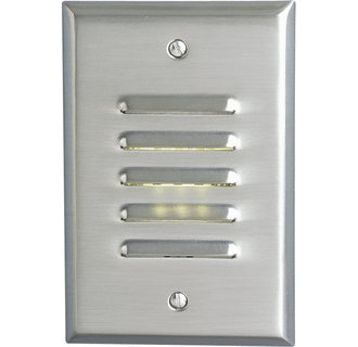 Progress Lighting P6828 Everlume 5W Energy Efficient Three-LED Louvered Step Light with Integral Transformer in Vertical Configuration