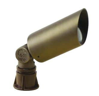 Troy Landscape R-F461B Single Light 3.4 Watt Brass Material Accent Flood Light from the Accent/Flood Collection