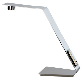 Trend Lighting TD1302 Polished Stainless Steel Table Lamp from the Edgy Collection