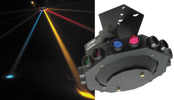 Eliminator Lighting E-113 Roto Saucer Rotating Multicolor Effect Light