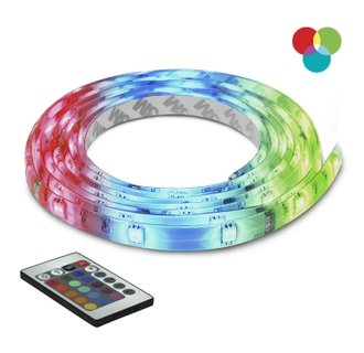 Bazz Lighting U00035RG LED Series 90-Light Multi-Color Under Cabinet LED Tape, Includes Multi-Function Remote Control