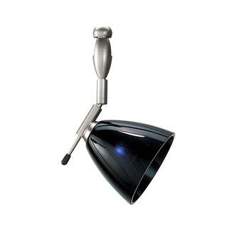 LBL Lighting Mini-Dome I Swivel I Black LED 2-Circuit Rail 1 Light Track Head
