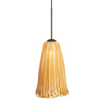 LBL Lighting Wilt Amber LED Monopoint 1 Light Track Pendant
