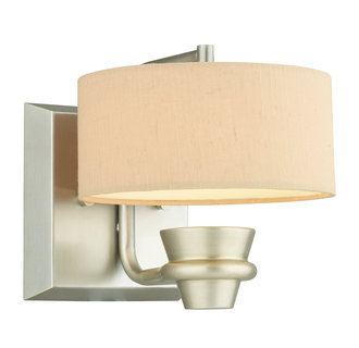 Thomas Lighting M4110 Contemporary / Modern 1 Light LED Wall Sconce with Silk Drum Shade from the Tarragon Collection