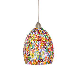 WAC Lighting MP-LED515-MF LED Monopoint Fiore Pendant with Millefiore Glass - Canopy Included