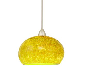 WAC Lighting MP-LED593-LI Komal Monopoint LED Pendant with Lime Glass - Canopy Included