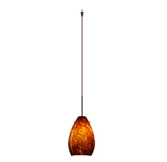 Besa Lighting XL-1713-BR Single Light LED Pendant with Bronze Metal Finish from the Pera 6 Collection
