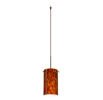 Besa Lighting XL-4404-BR Single Light LED Pendant with Bronze Metal Finish from the Stilo 7 Collection