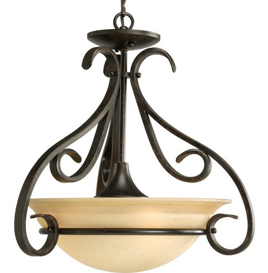 Torino Three-Light Bowl LED Pendant
