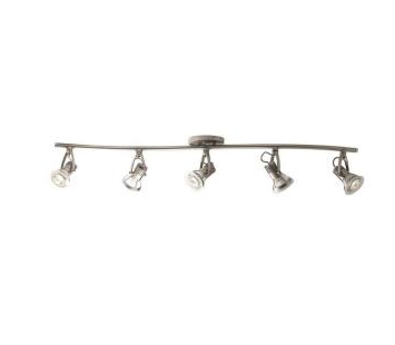 5-Light Satin Nickel Track Lighting Kit