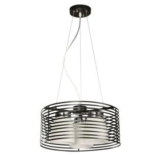 Aranga 3-Light Matte Black Drum Pendant LED Chandeliers