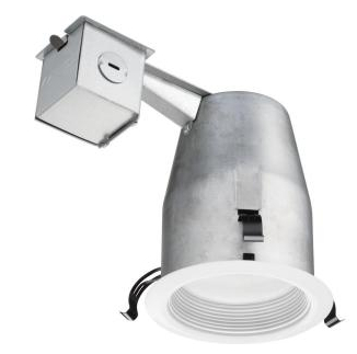 LED 4 in. Recessed Matte White Baffle Kit