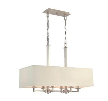 Light Brushed Nickel Kitchen Island LED lamp