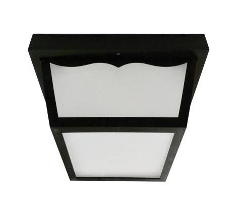 Family Solutions Flush Mount 1-Light Outdoor Black LED Porch Fixture