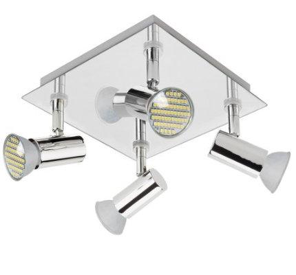 GU10 4 Way LED Ceiling Spotlight