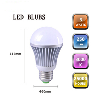 Aluminium alloy material undimmable A60 E27 LED Bulb