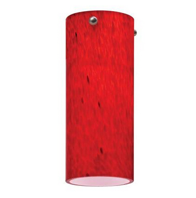 1-Light Apple Red LED Mini Pendant