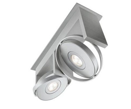 2-Light Integrated Ceiling LED Track Lighting Fixture