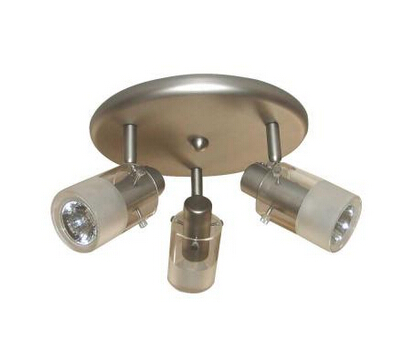 3-Light Ceiling-Mount Round Light Fixture
