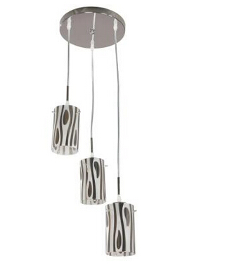 3-Light Chrome Chandelier Pendant