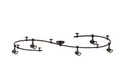 5-Light 10 ft. Track Lighting Kit