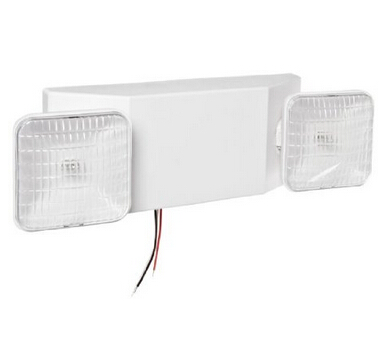 White Low Profile Emergency Lt Emergency Light Fixture