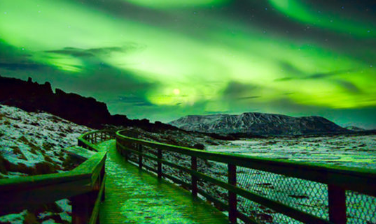 """LED lights to create a dazzling """"Northern Lights"""""""
