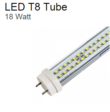 18 Watt LED T8 Tube 44W Equivalent