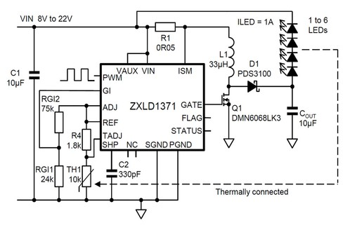 Thermistor reliability in LED lighting