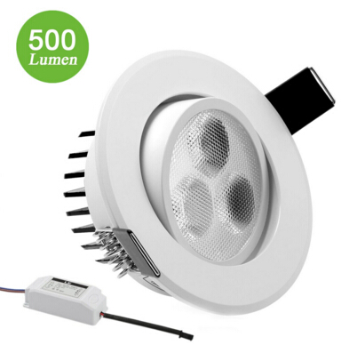 White 7W 4-Inch LED Recessed Ceiling Lights